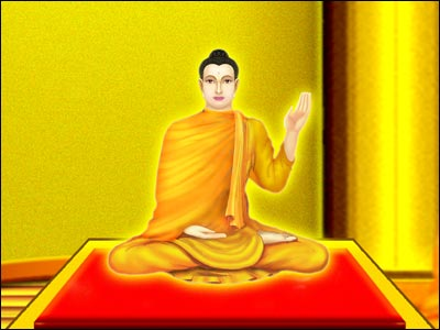 When the Lord Buddha had finished his explanation of the origin of suffering