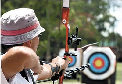 An Archer's Target: Just as the concentric coloured circles of a target are the chosen object for archers to test their skills